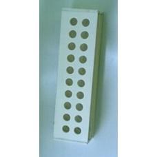 Статив за епруветки PVC 2x10 гнезда с диаметър 10 мм.
